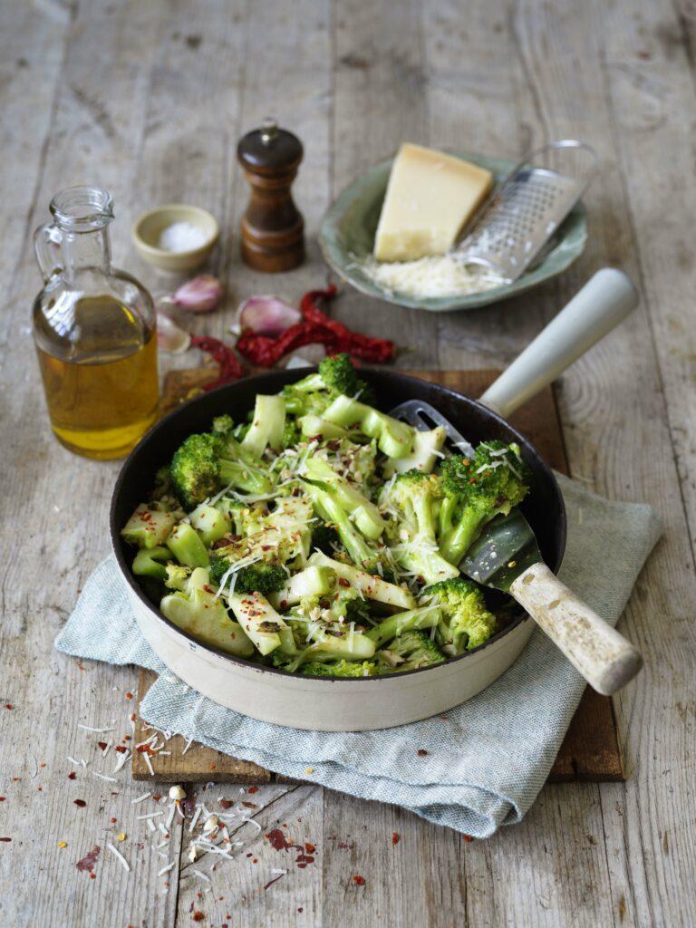 Stekt broccoli