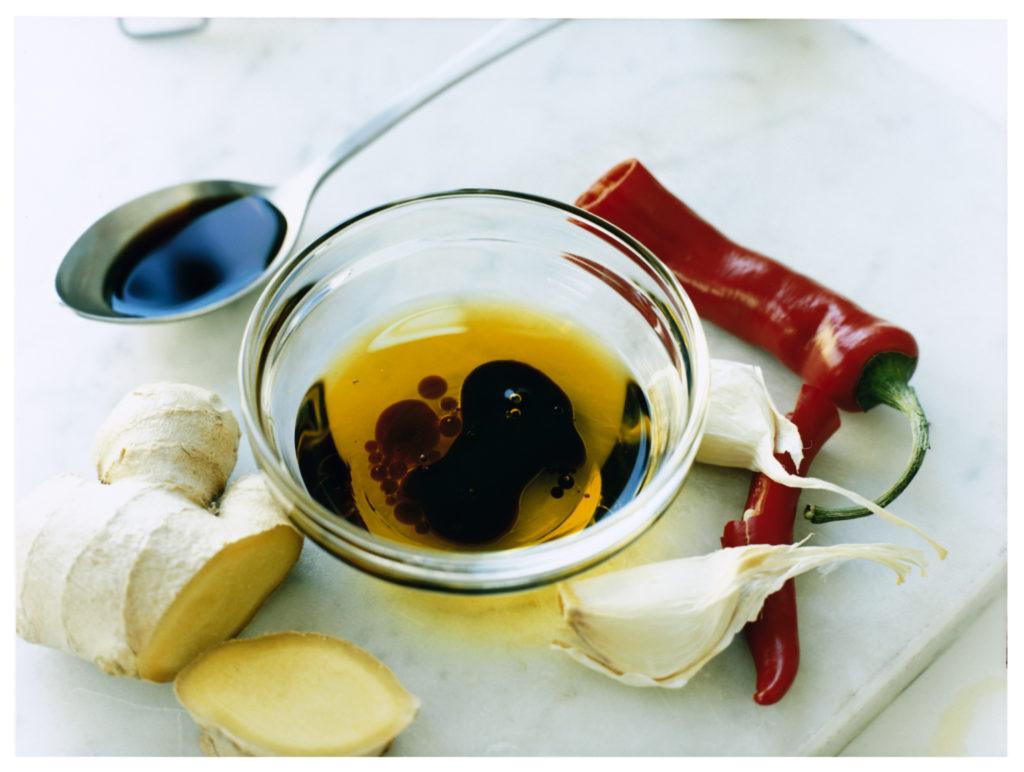 Recept från Zeta. Vinägrett_med_chili_soja_ingefära_och_vitlök_li