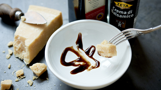 Recept från Zeta. parmesan-med-crema-di-balsamico