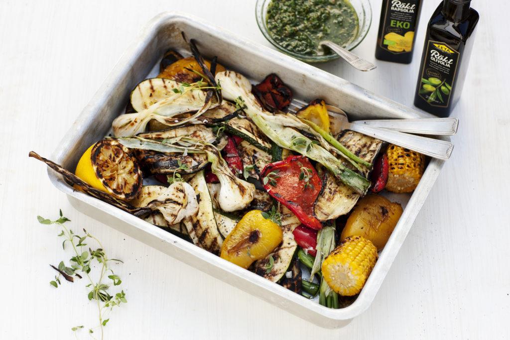 Recept från Zeta. Grillade grönsaker med salsa verde