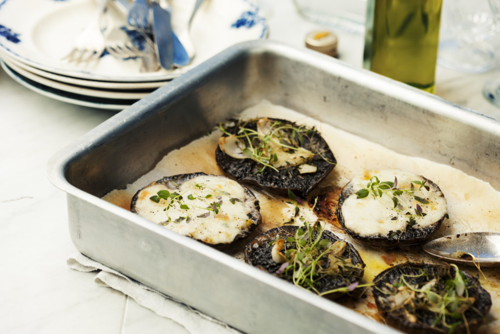 Recept från Zeta: Ugnsbakad portabello med vitlök och mozzarella