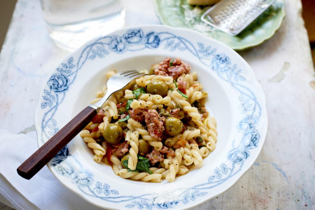 Recept från Zeta: Pasta Gemelli med salsiccia