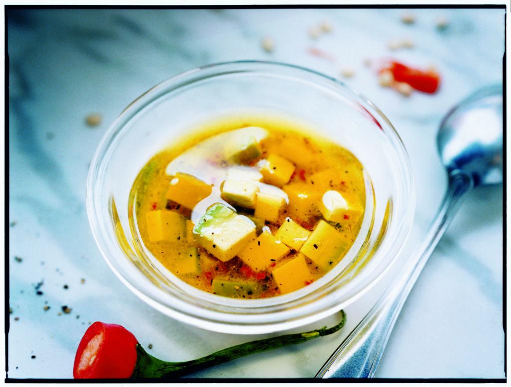 Recept från Zeta: Vinägrett med mango, avokado och chili