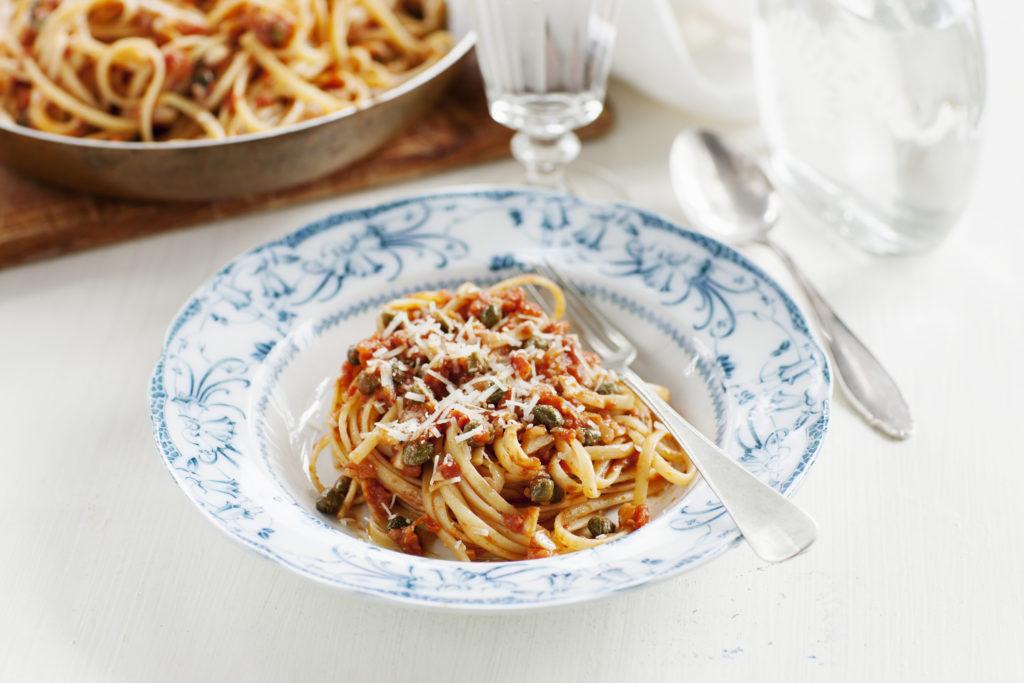 Recept från Zeta. Linguine_kapris_tomat_li