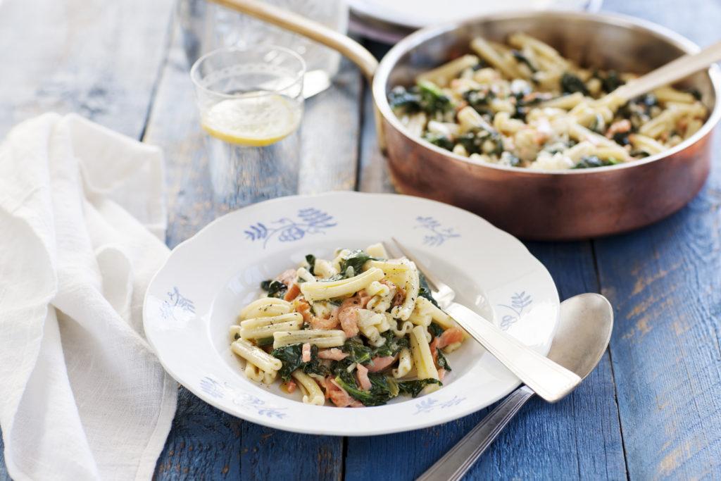 Recept från Zeta. Pasta_lax_spenat_mascarpone_li