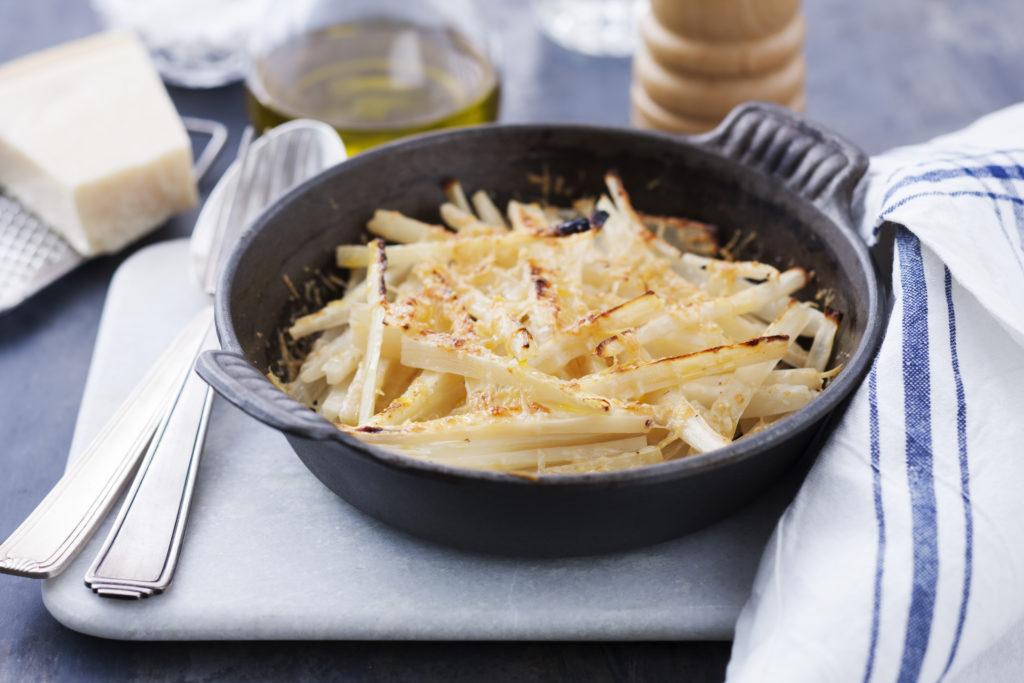 Recept från Zeta. Parmesangratinerade svartrötter.