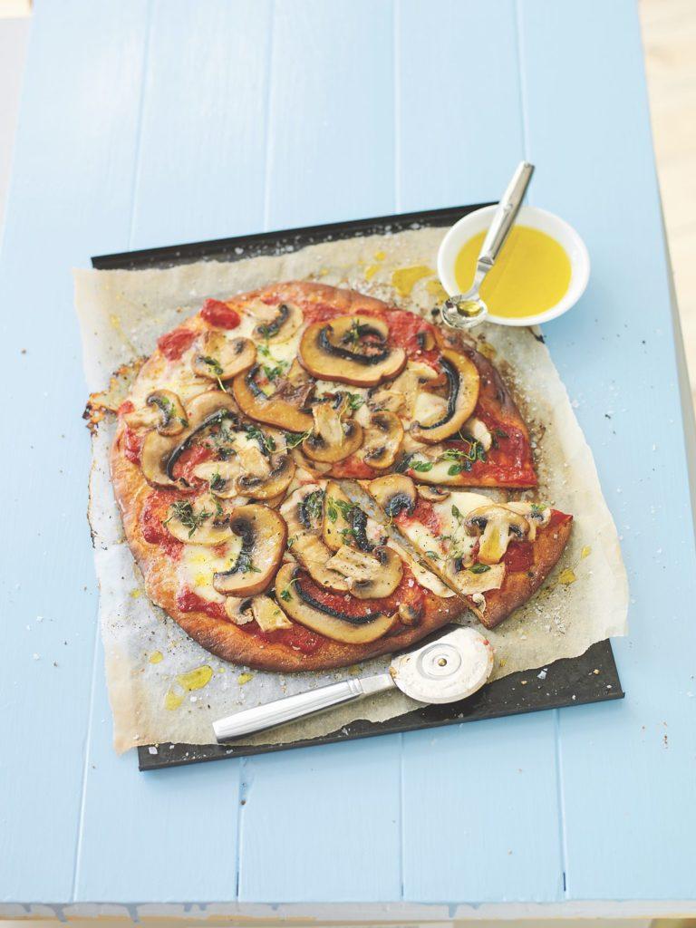 Recept från Zeta.nu. Pizza ai funghi