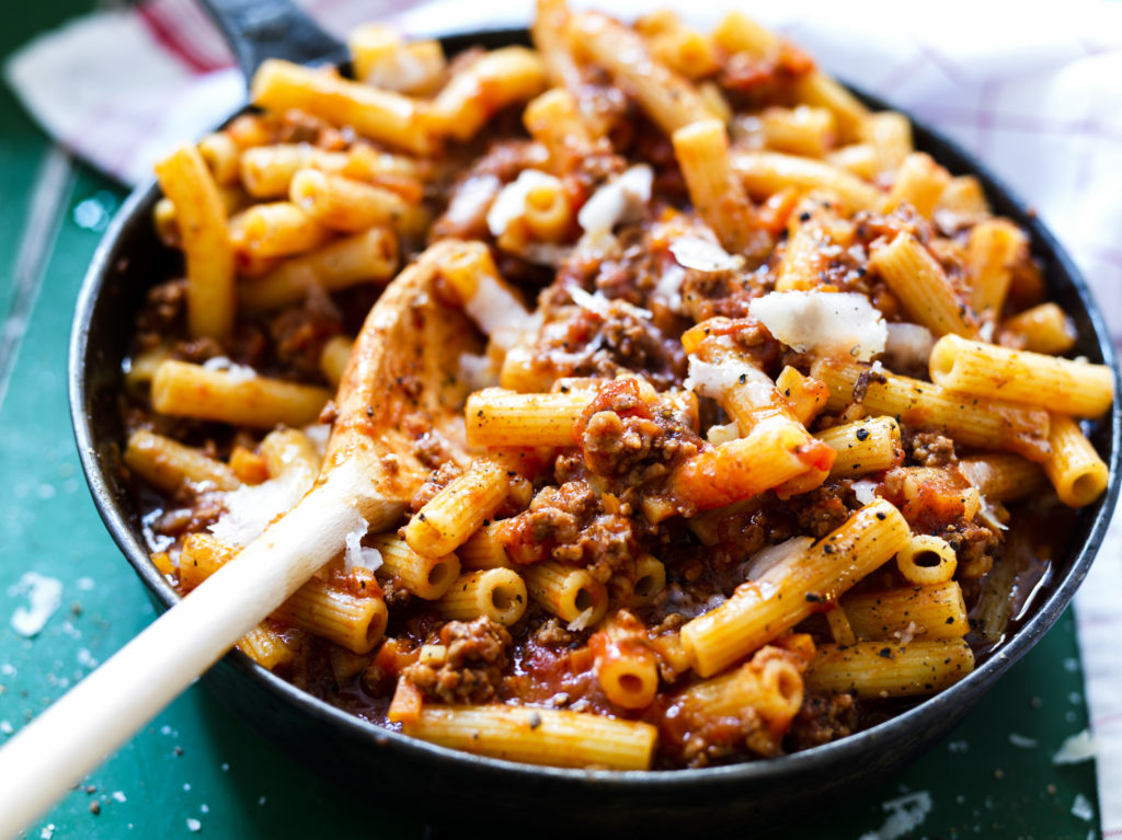 Recept från Zeta. Pasta Bolognese