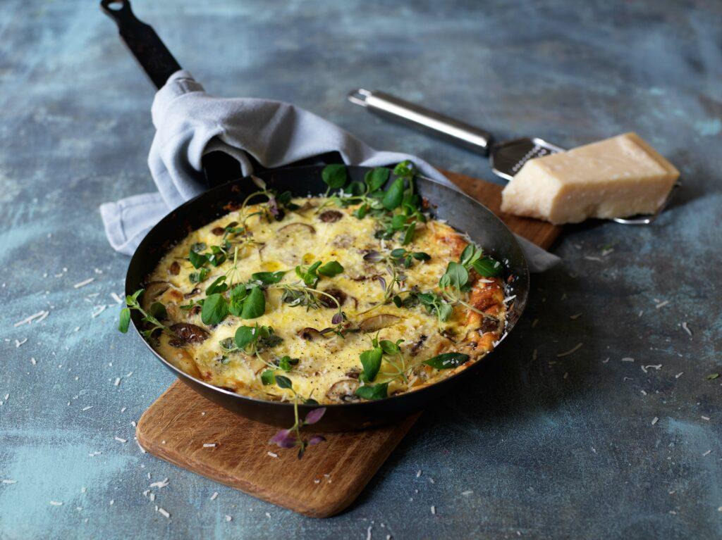 Recept från Zeta.nu Frittata med svamp och parmesan