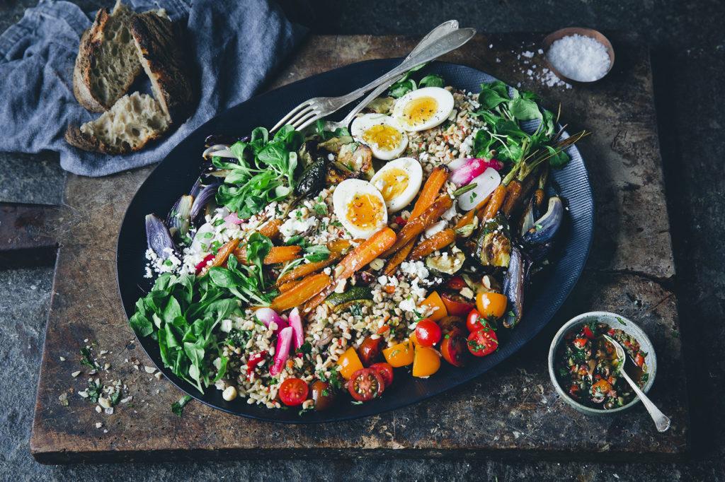 Grynsallad med paprikasalsa   rostade grönsaker  93f9130b23572