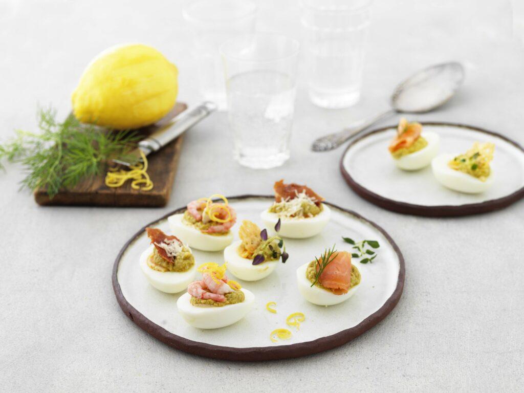 Recept ägghalvor med sparriskräm