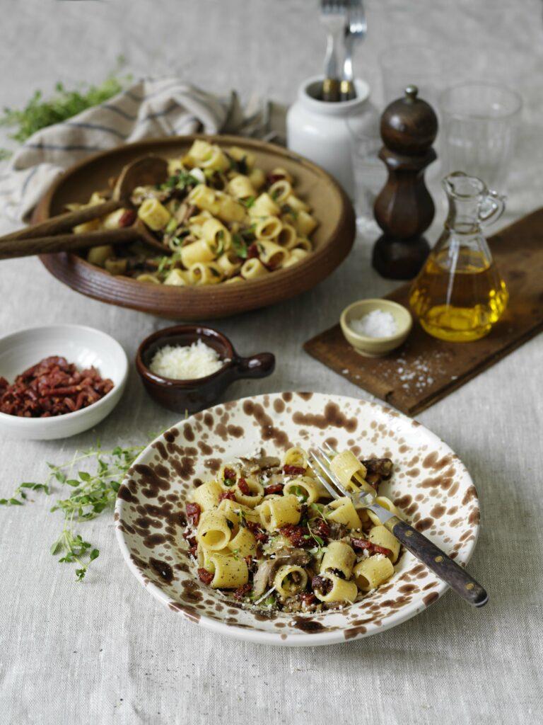 Svamppasta med tryffelsalami
