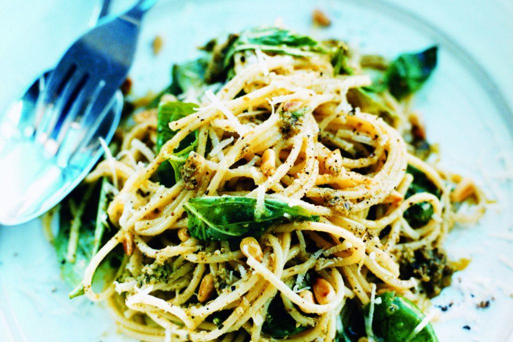 Recept med Zeta. Pasta_med_pesto_st