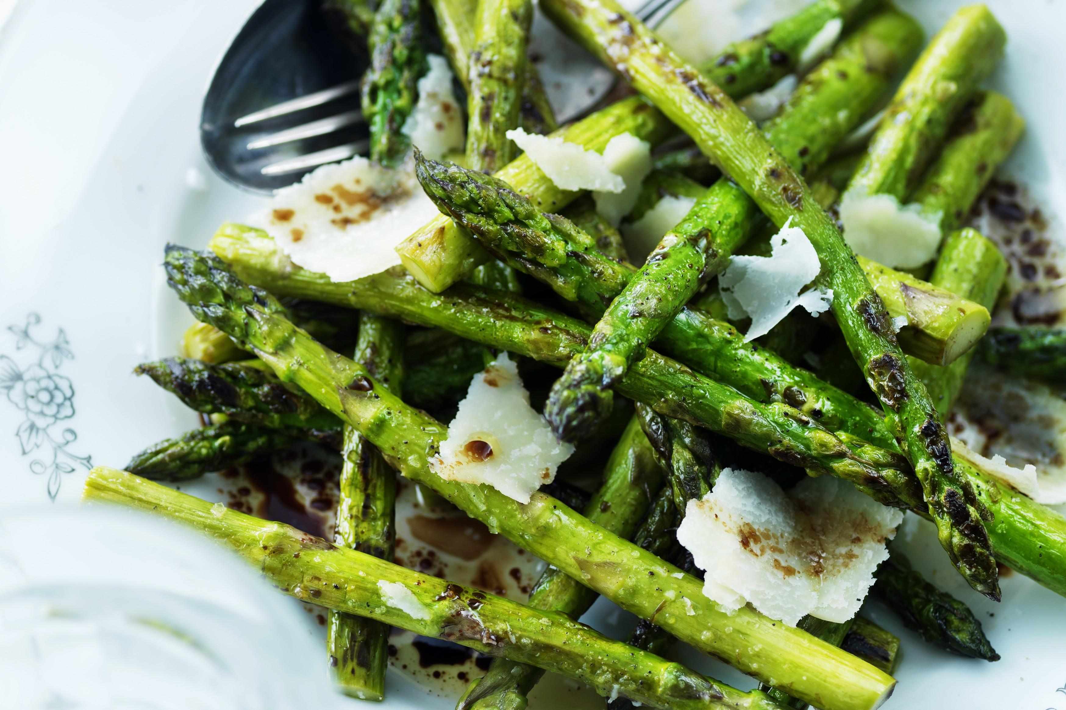 laga grön sparris