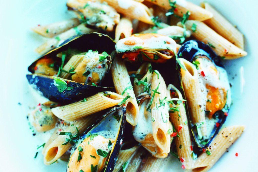 Recept från Zeta. Pasta_med_blåmusslor