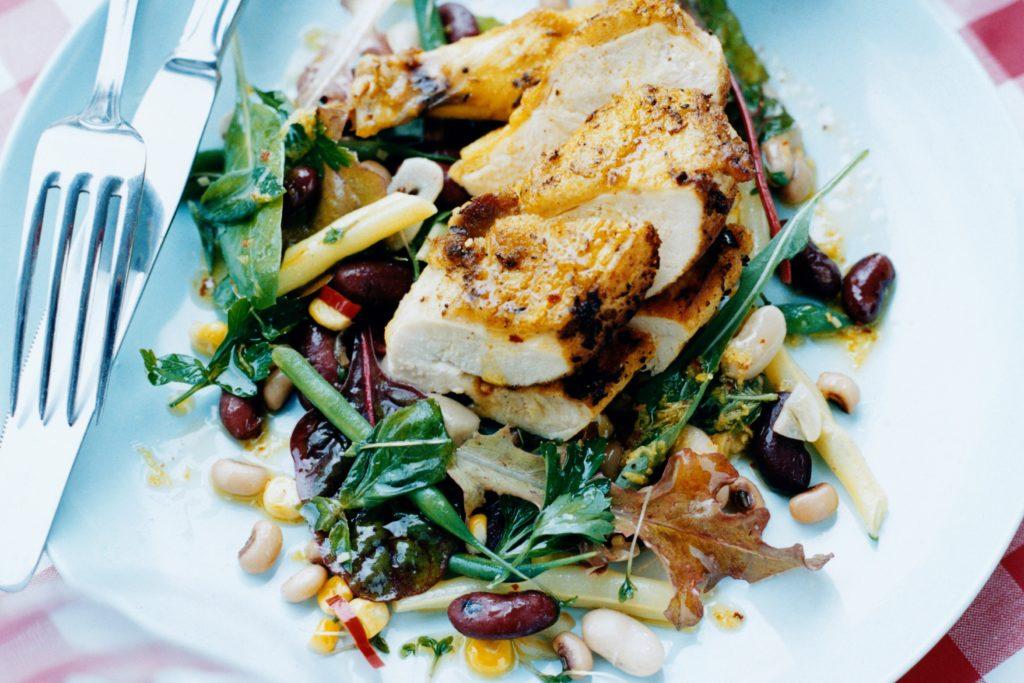 Recept från Zeta. citron_och_chilistekt_kyckling_med_kryddig_bonsallad