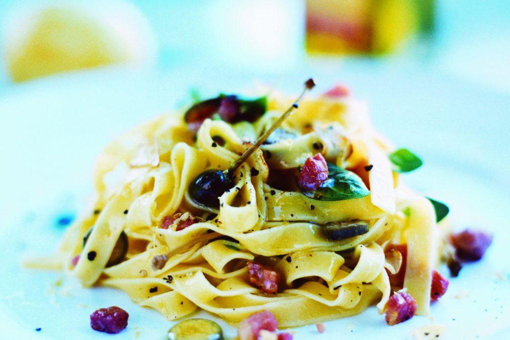 Recept från Zeta. Pappardelle med pancetta