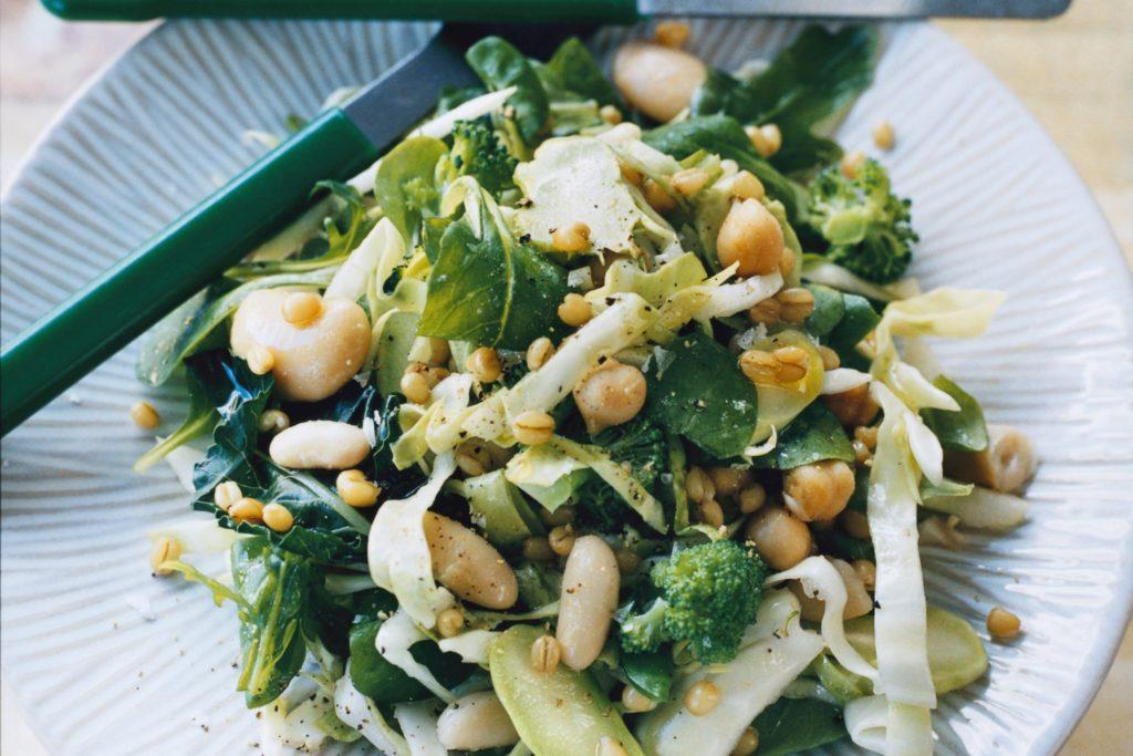 Recept från Zeta. sallad_pa_rucola_matvete_och_broccoli