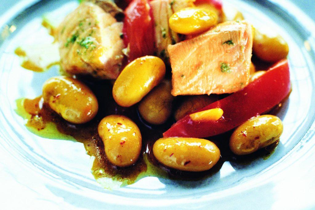Recept från Zeta: Bönor med saffra och limelax