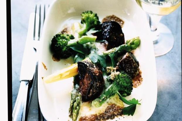 Recept från Zeta: Ekologisk Gorgonzola och grönsaker i ugn