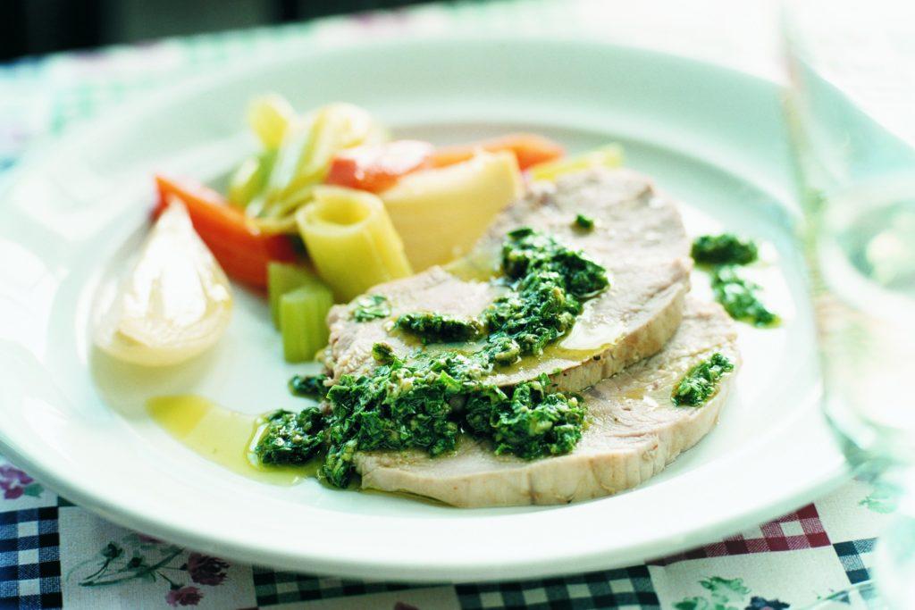 Recept från Zeta: Kokt kalvkött med grön sås