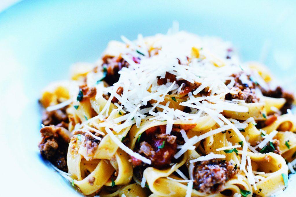 Recept från Zeta: Pasta Bolognese med bönor