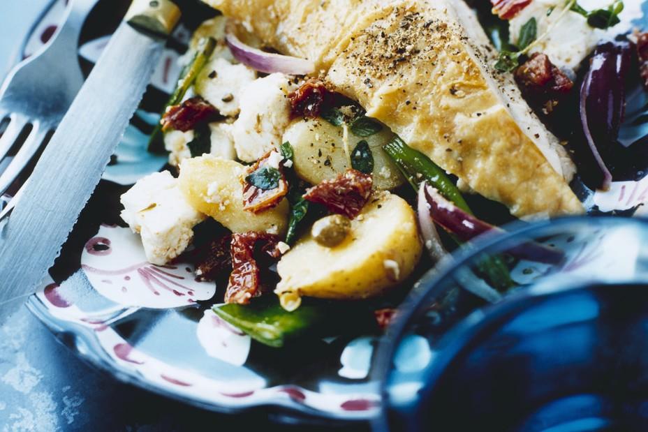 Recept från Zeta: Potatissallad med tomat och kapris