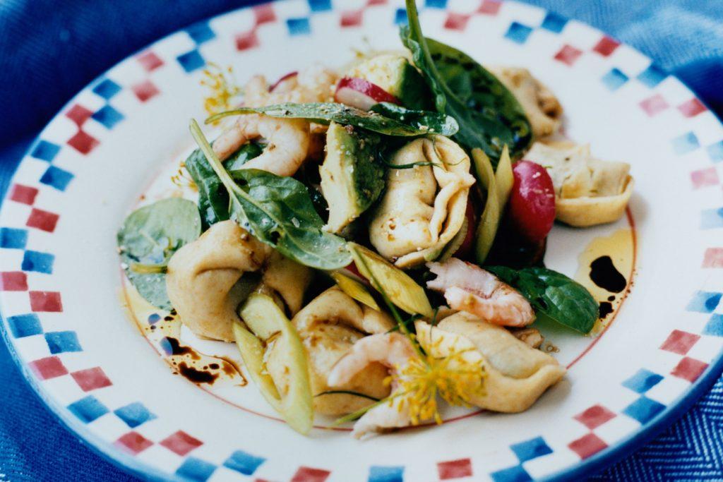 Recept från Zeta: Räksallad med tortellini