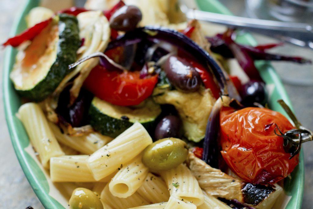 Recept från Zeta: Mezze Maniche med grillade grönsaker