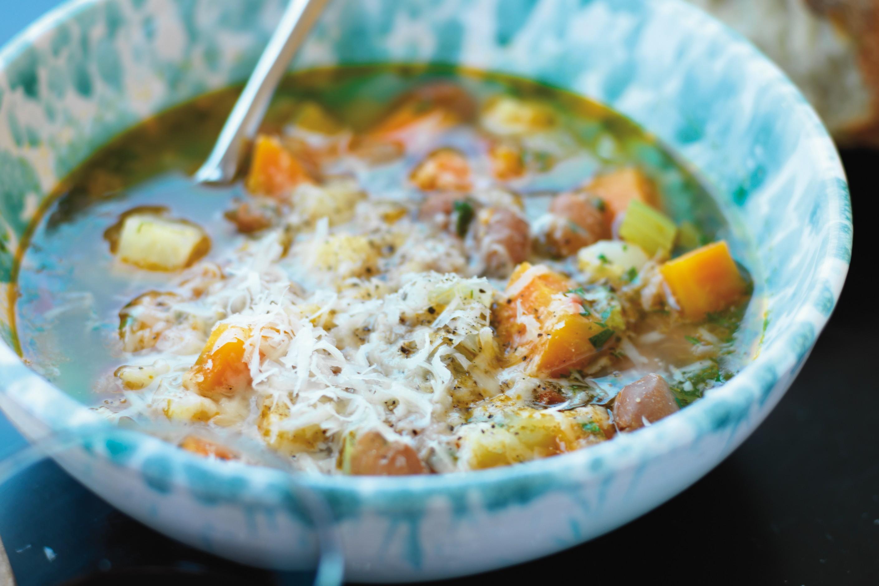 soppa med grönsaker