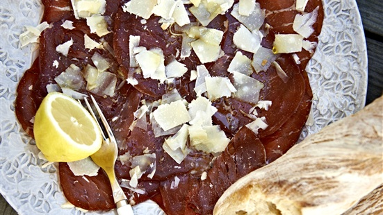 Recept från Zeta. Bresaola_med_citron_och_parmesan