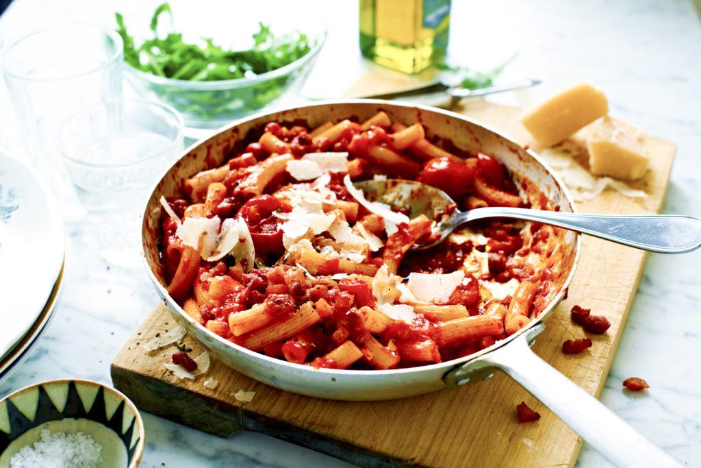 Recept från Zeta. Pasta_Amatriciana_li
