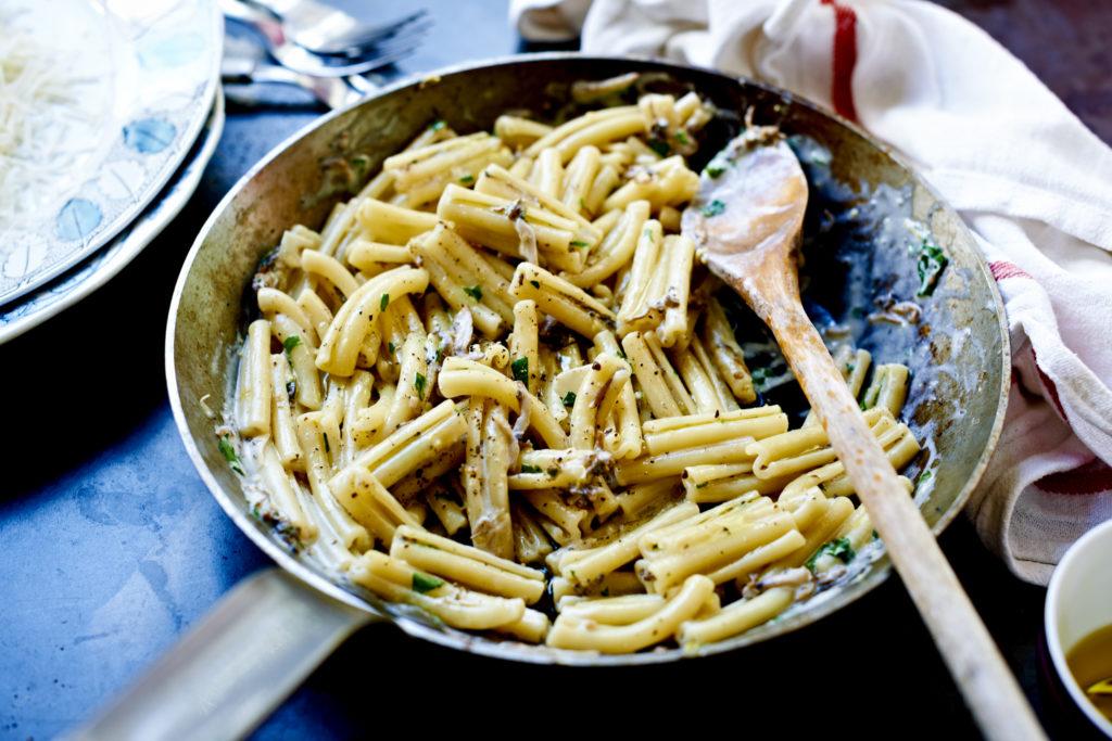 Recept från Zeta. kramig_champinjonpasta