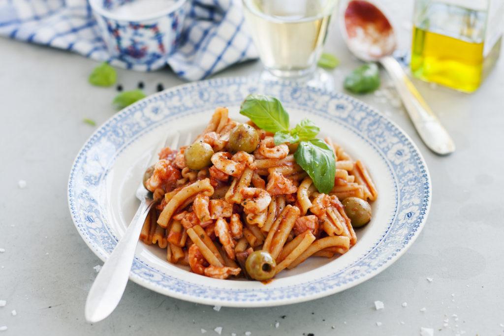 Recept från Zeta: Cavatelli med räkor och lax
