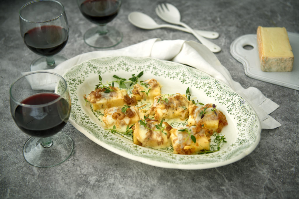 Recept från Zeta. Grillad polenta med taleggio.