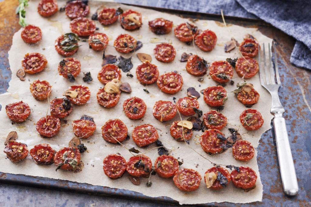 Recept från zeta. Långbakade tomater