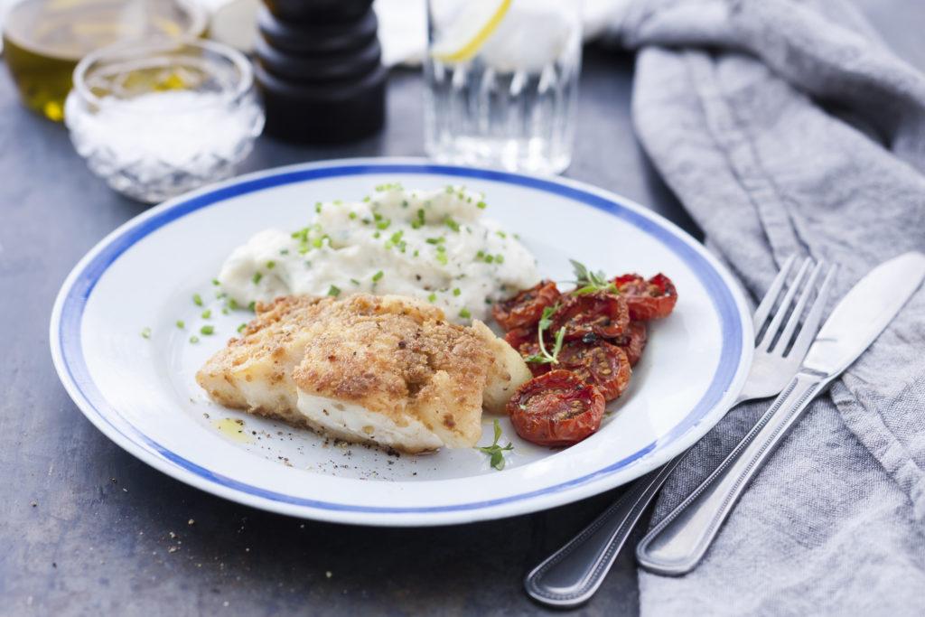 Recept från Zeta. Olivstekt torsk med blomkålspuré