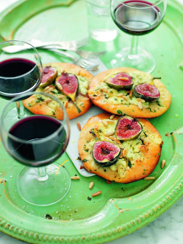 Recept från Zeta. Minipizza med gorgonzola