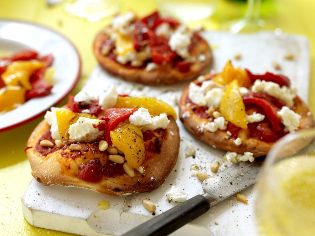 Recept från Zeta. Minipizza chevre