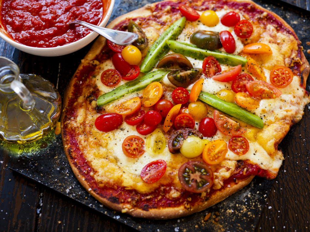 Recept från zeta.nu. Tomatppizza