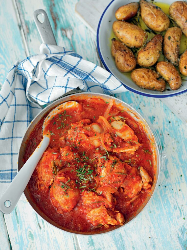 Recept från Zeta. Tomatbrässerad kyckling med rosmarin.
