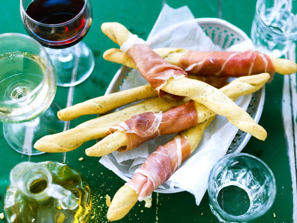 Recept från Zeta. Filoncini med prosciutto