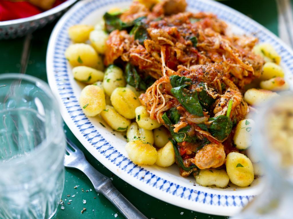 Recept från Zeta. Gnocchi med kyckling