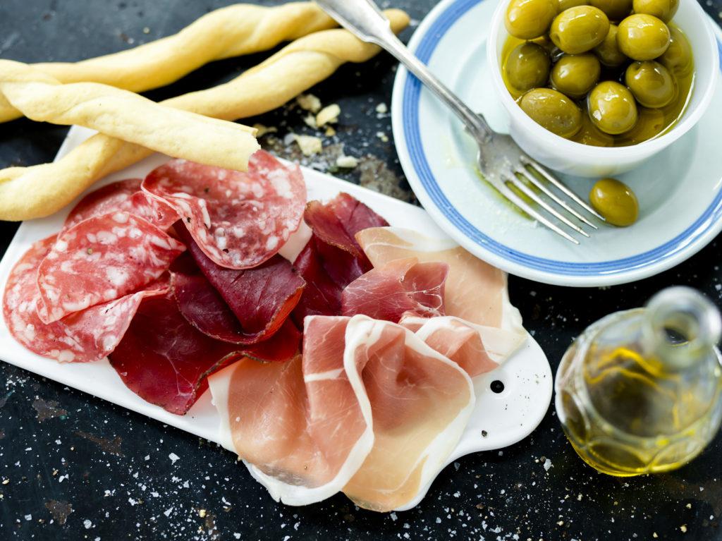 Recept från Zeta. Italienskt charkfat.