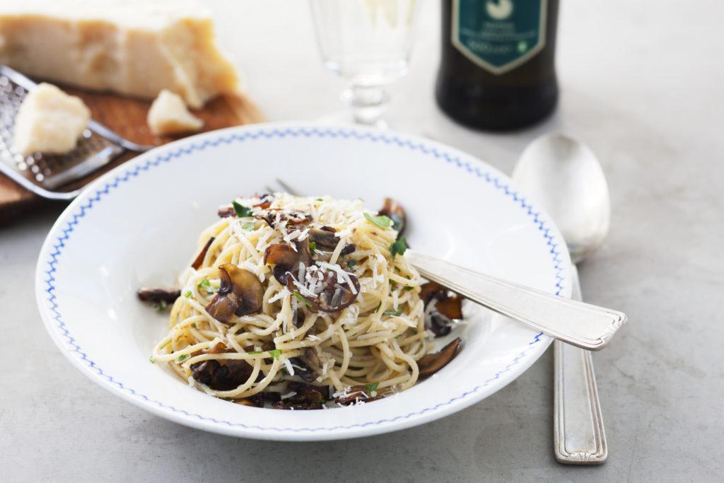 Recept från Zeta. Spaghetti med svampcrème