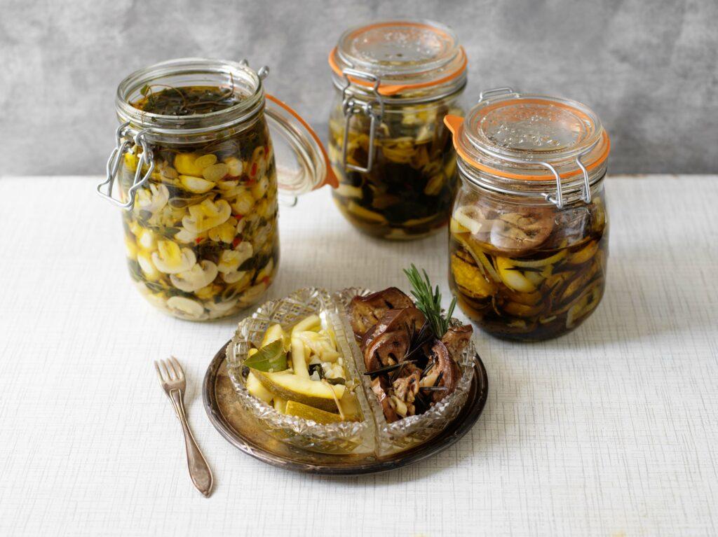 Recept från Zeta.nu inlagda grönsaker och svamp.