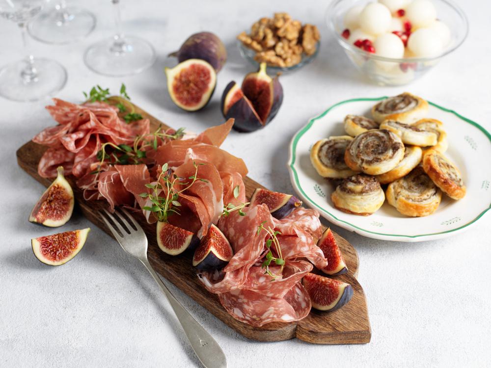 Recept från zeta.nu Tryffelsnurror med chark och frukt