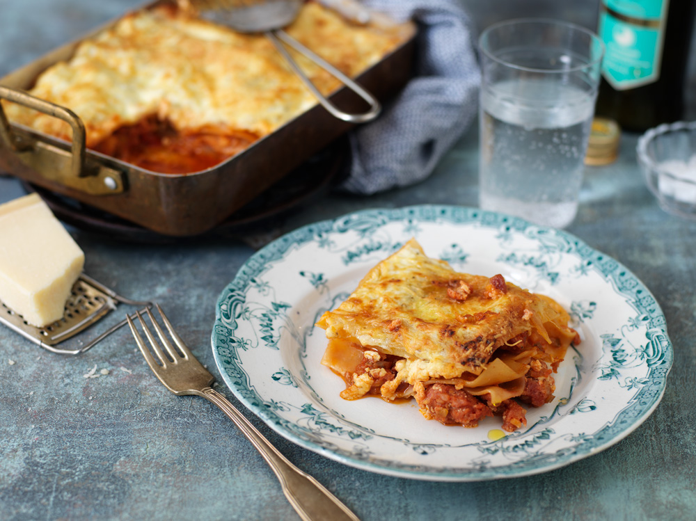 Lasagne med salsiccia