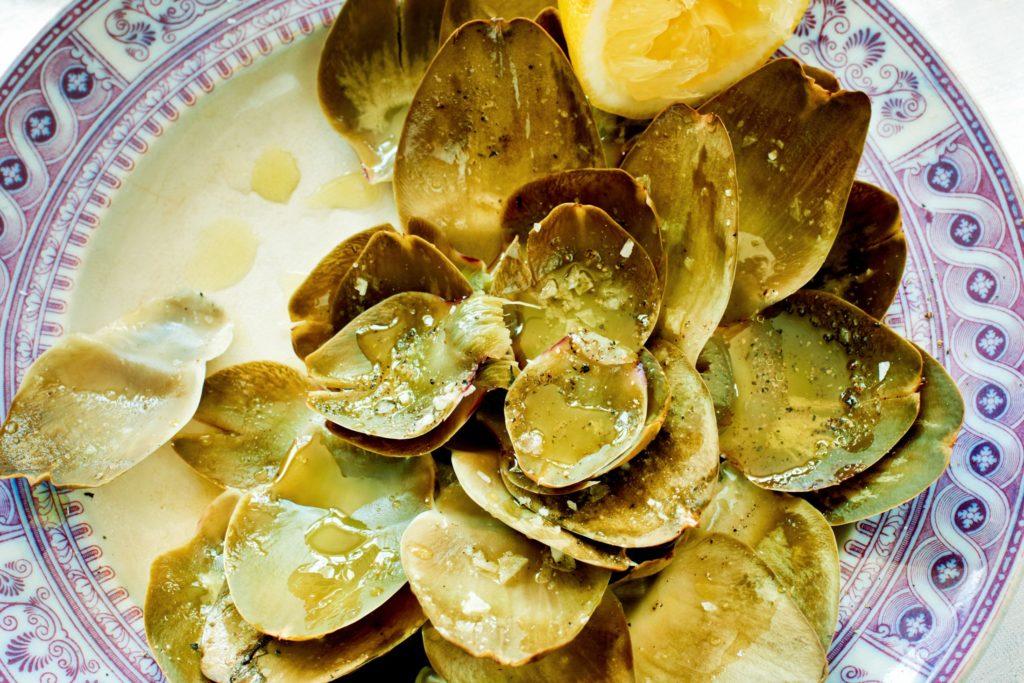 Recept från Zeta. kronartskocka_med_olivolja_och_citron