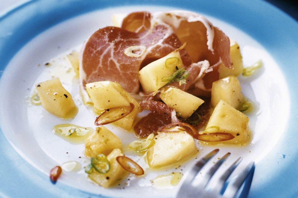 Recept från Zeta. melon-med-prosciutto-chili-och-citron